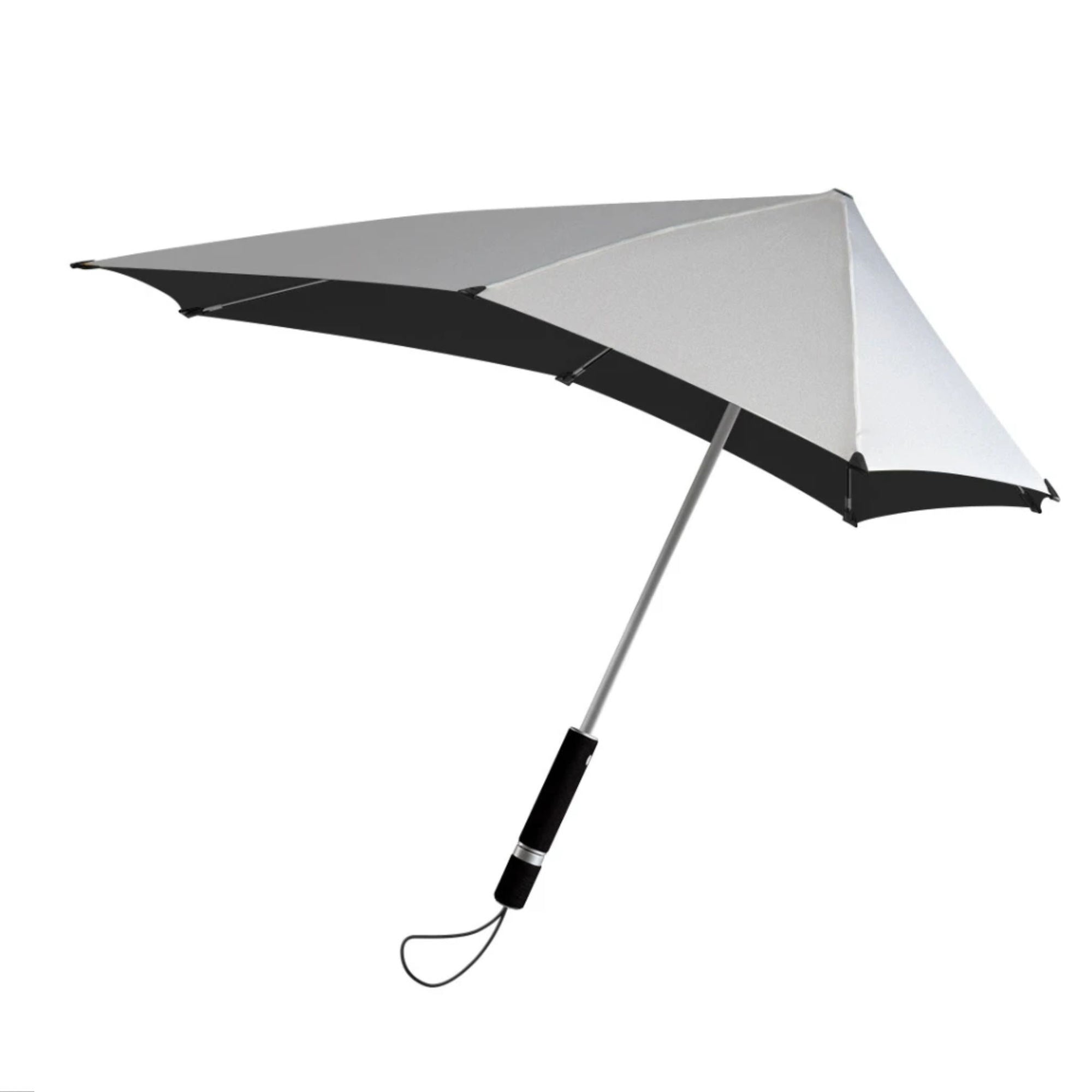 Senz° Original storm umbrella, shiny silver