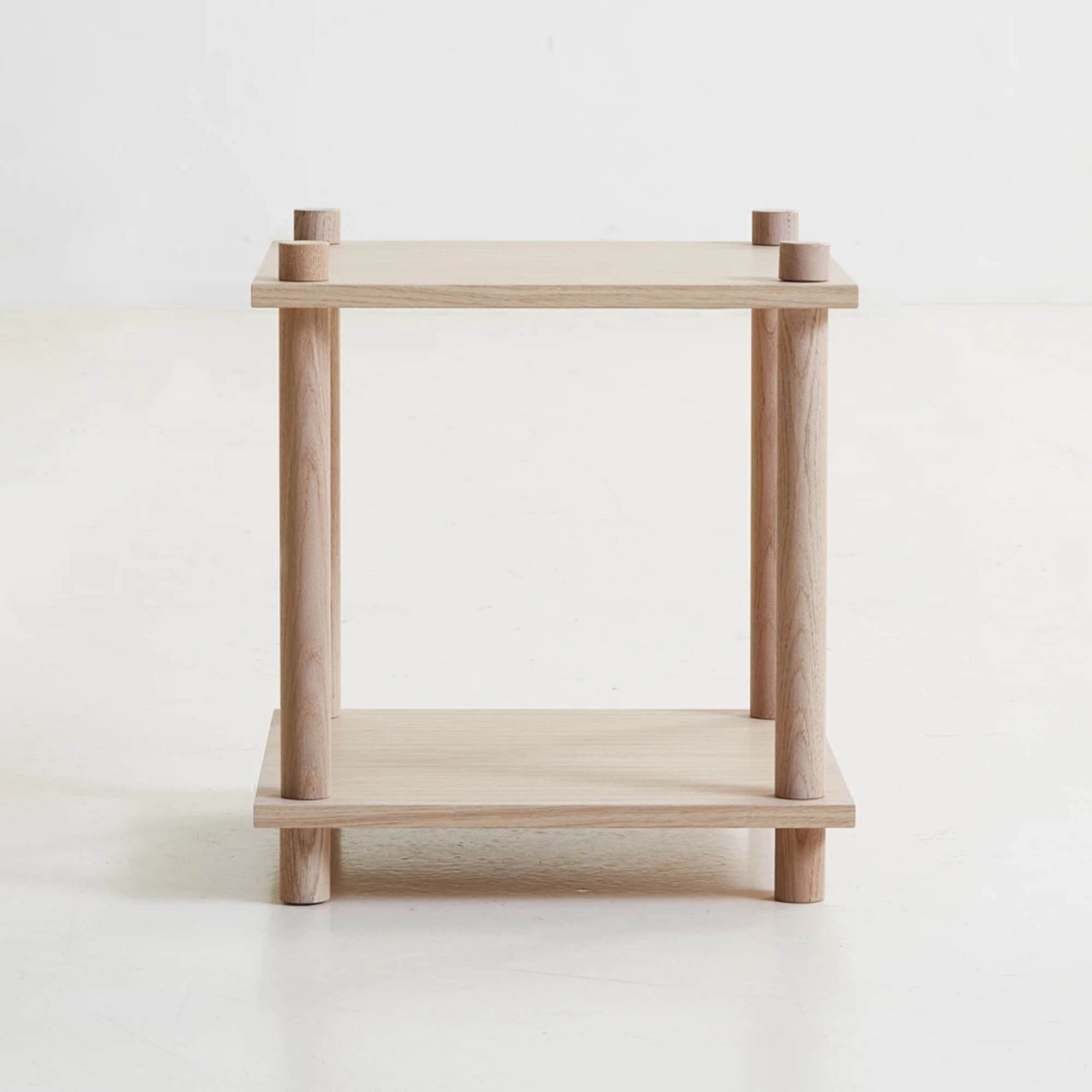 Woud Elevate Shelving Side Table , Oak