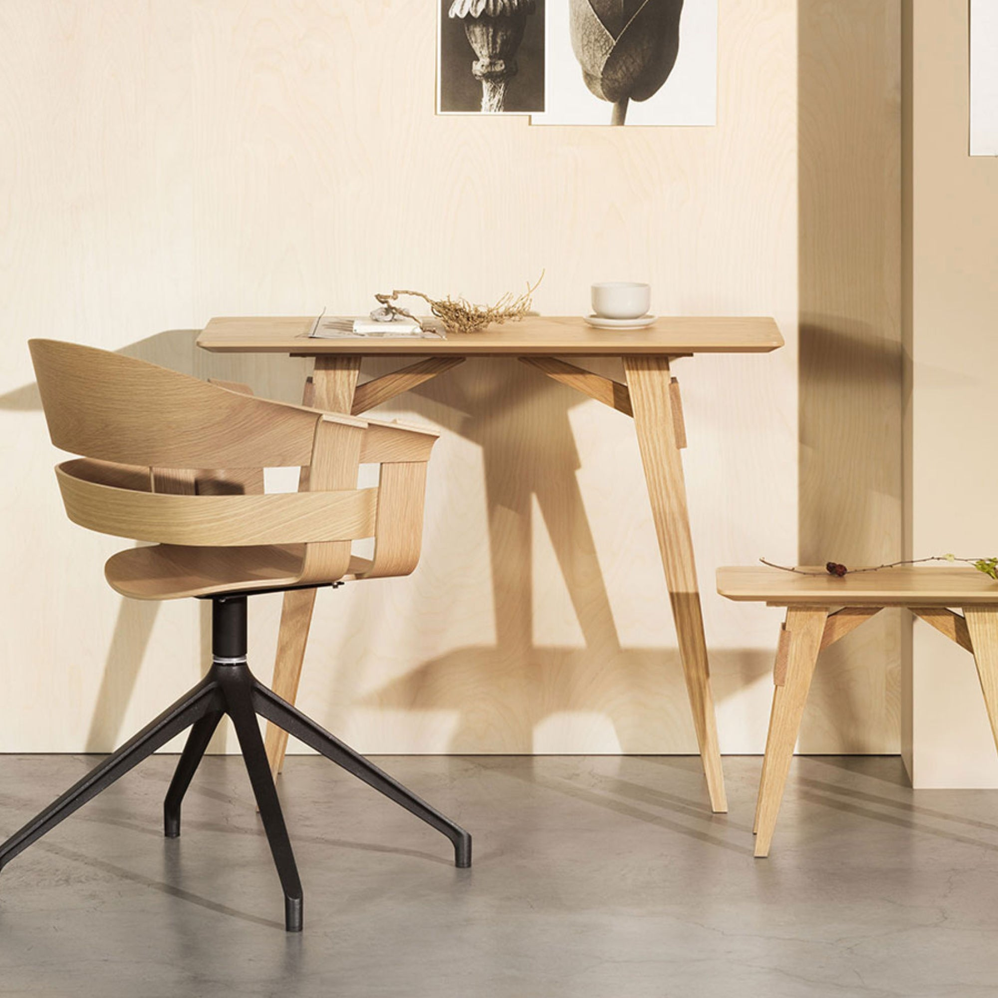 Design House Stockholm Arco Side Table , Oak