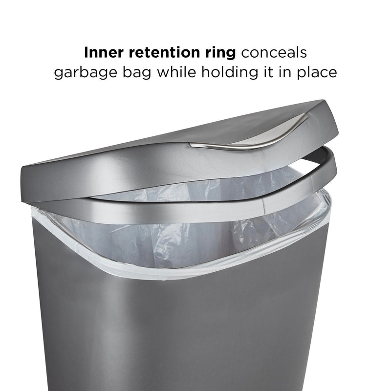 Umbra Brim Trash Can 50L , Nickel