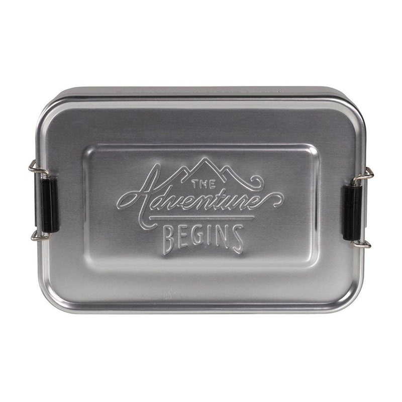 Gentlemen's Hardware Aluminium Lunch Tin , Silver