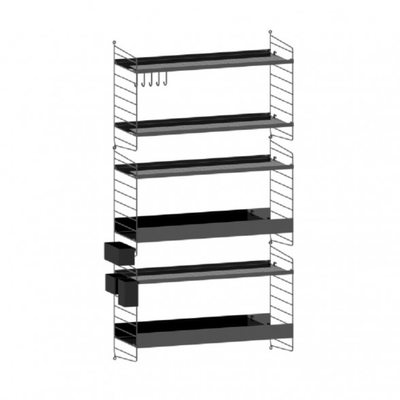 String Single Column Wall Shelf W78xD30xH150cm