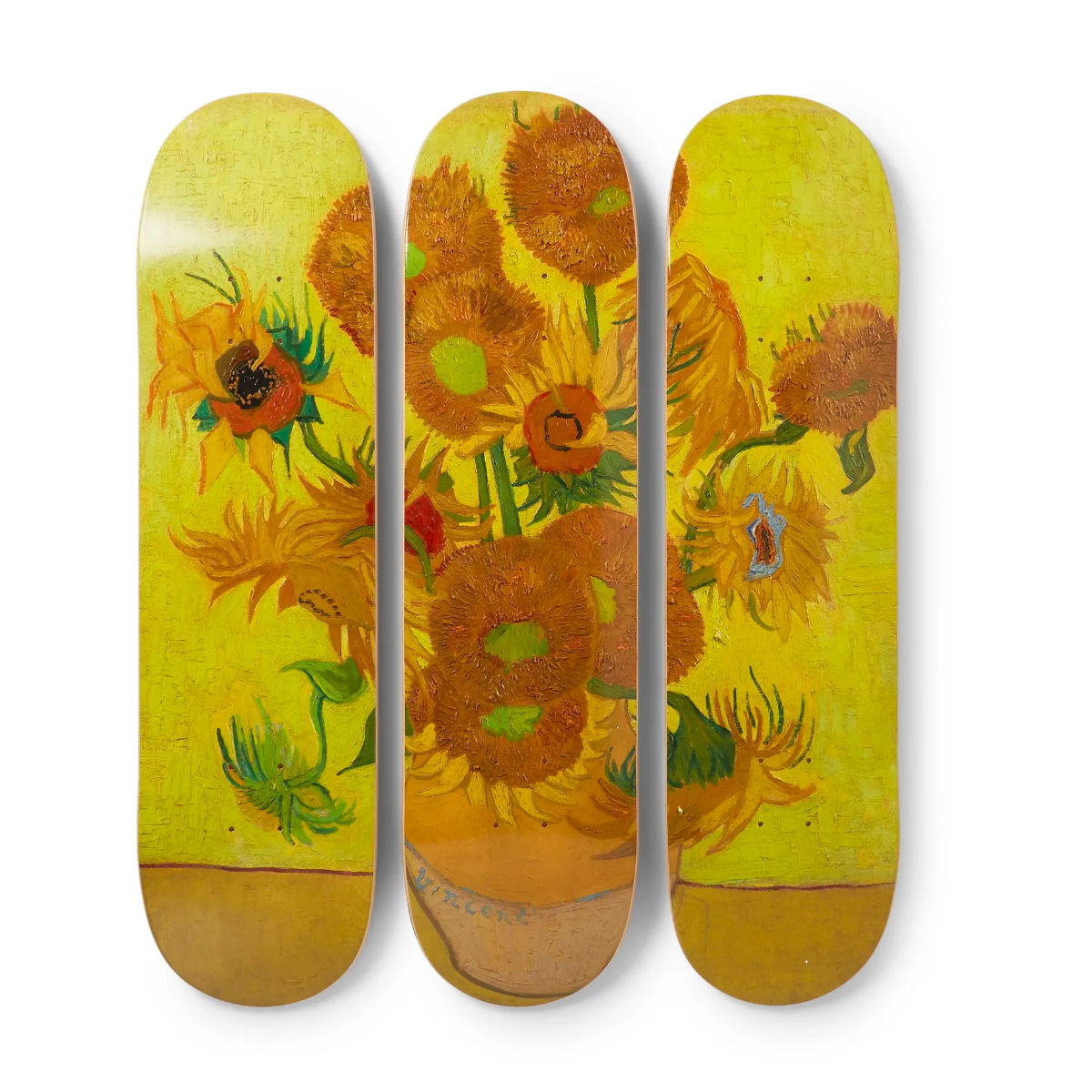 The Skateroom skateboard set, Vincent Van Gogh Sunflowers
