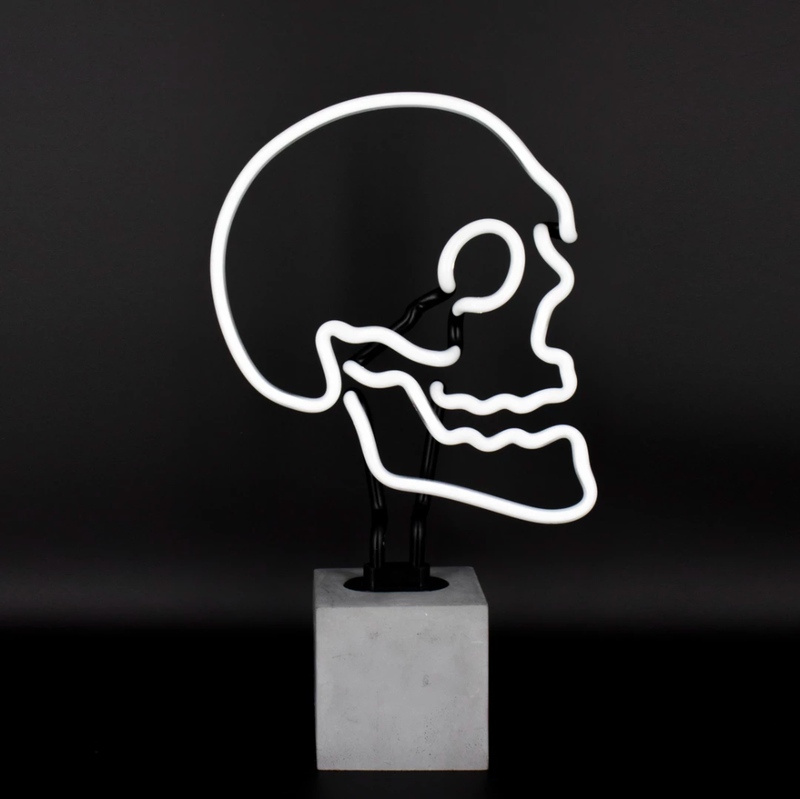 Locomocean Neon table lamp, skull