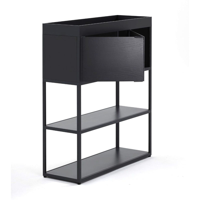 Hay New Order dresser with sliding door + tray shelf, charcoal