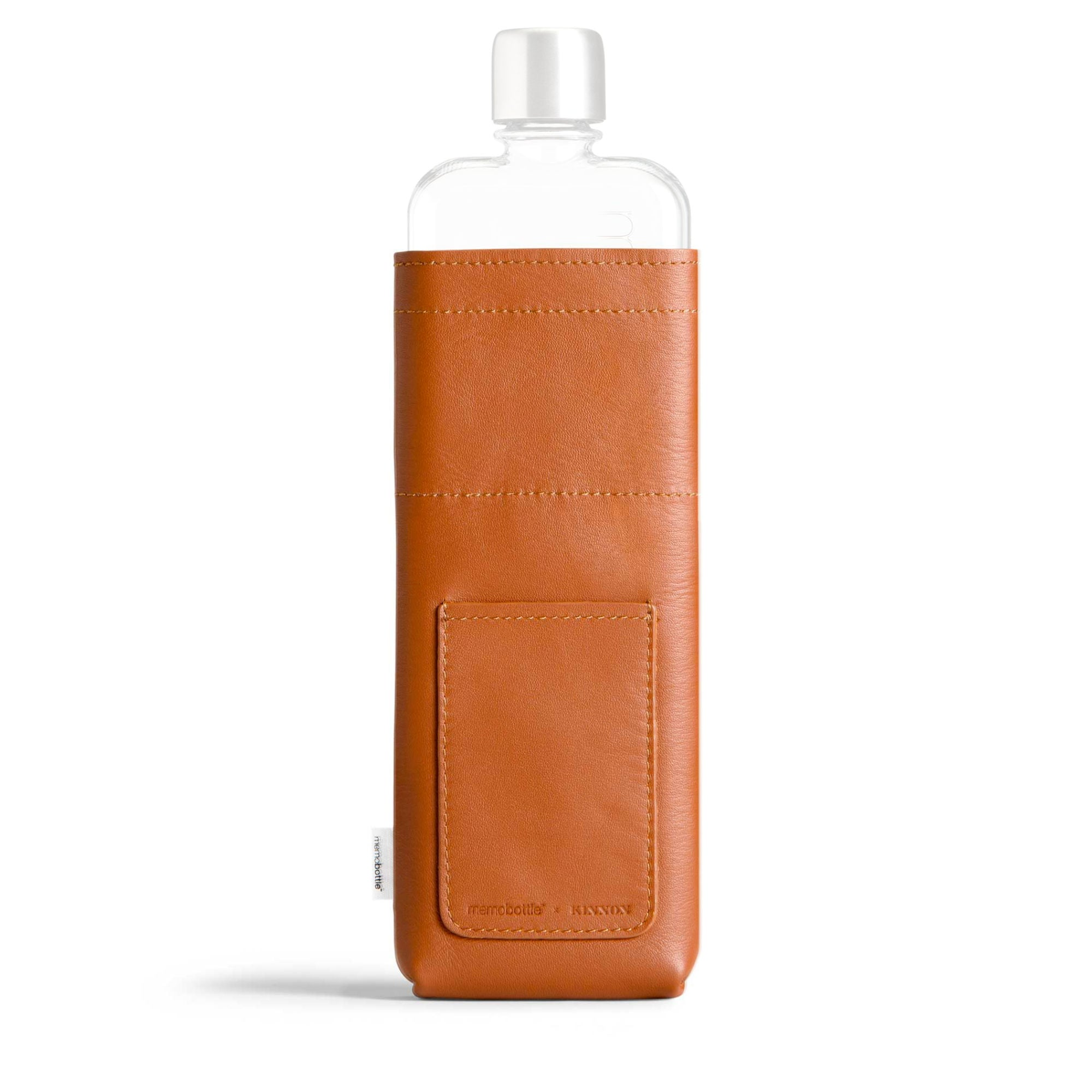 Memobottle Leather Sleeve for Slim , Tan