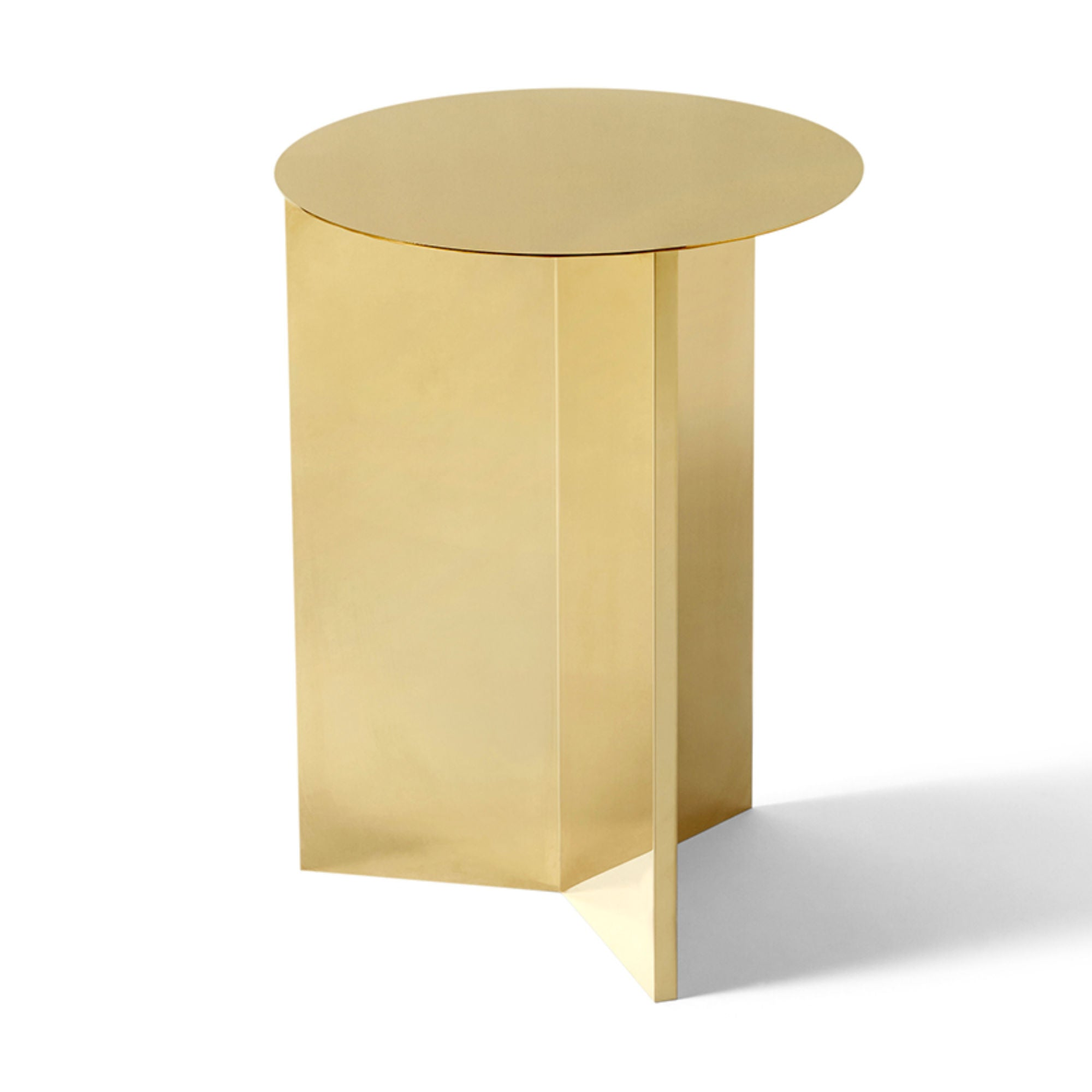 Hay Slit Side Table Round High Φ35 , Brass