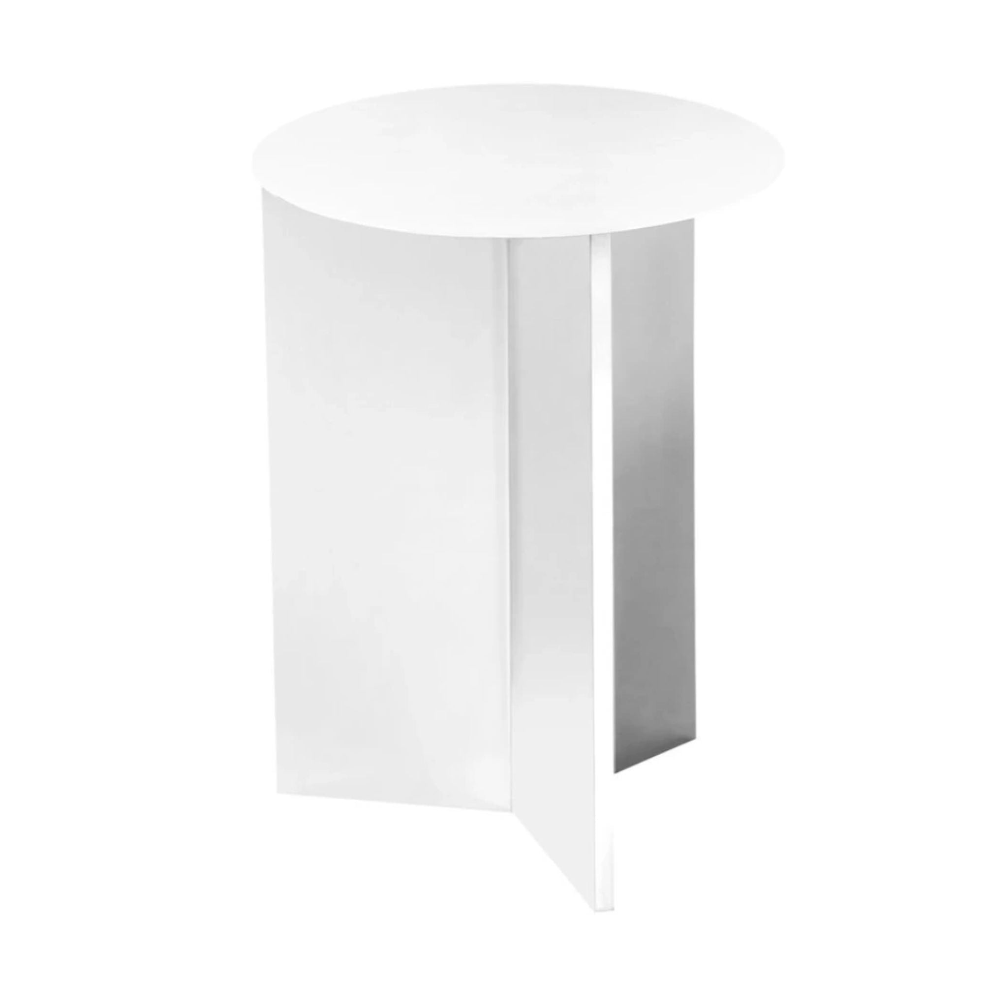 Hay Slit Side Table Round High Φ35 , White