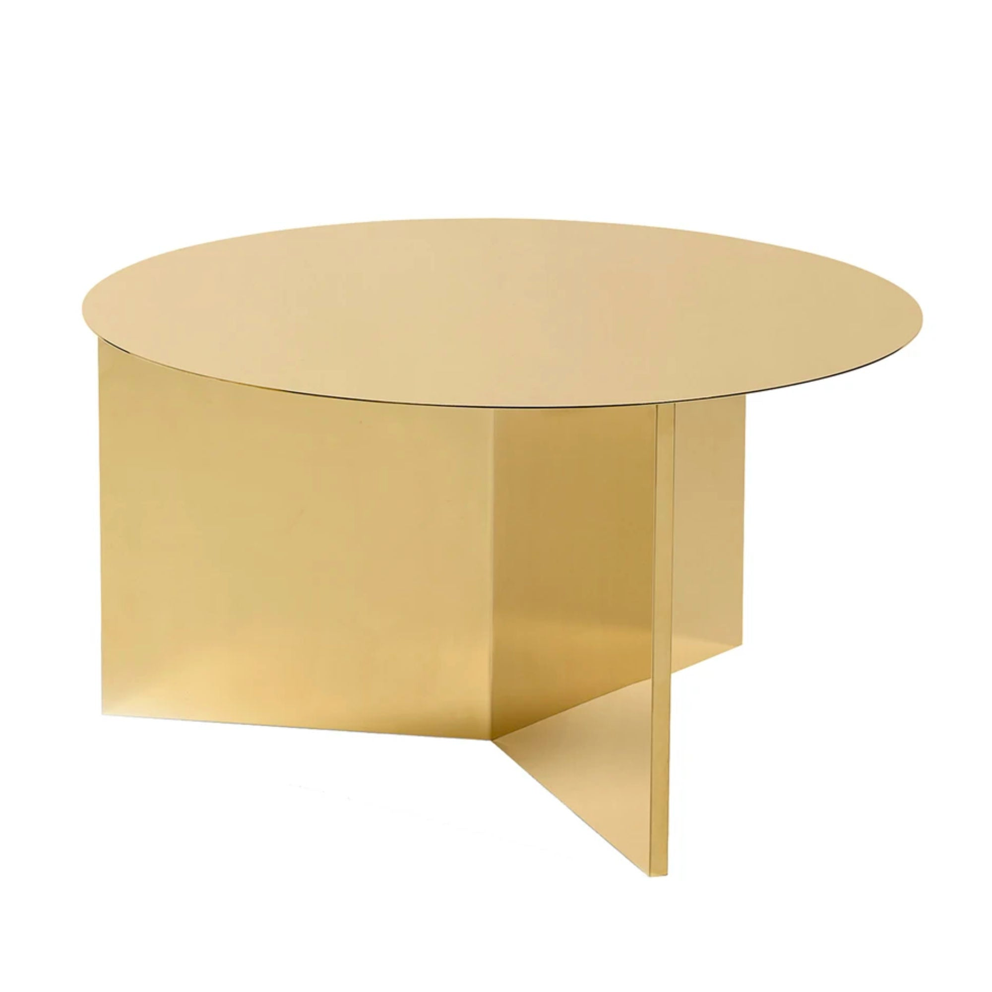 Hay Slit Coffee Table Round XL Φ65 , Brass