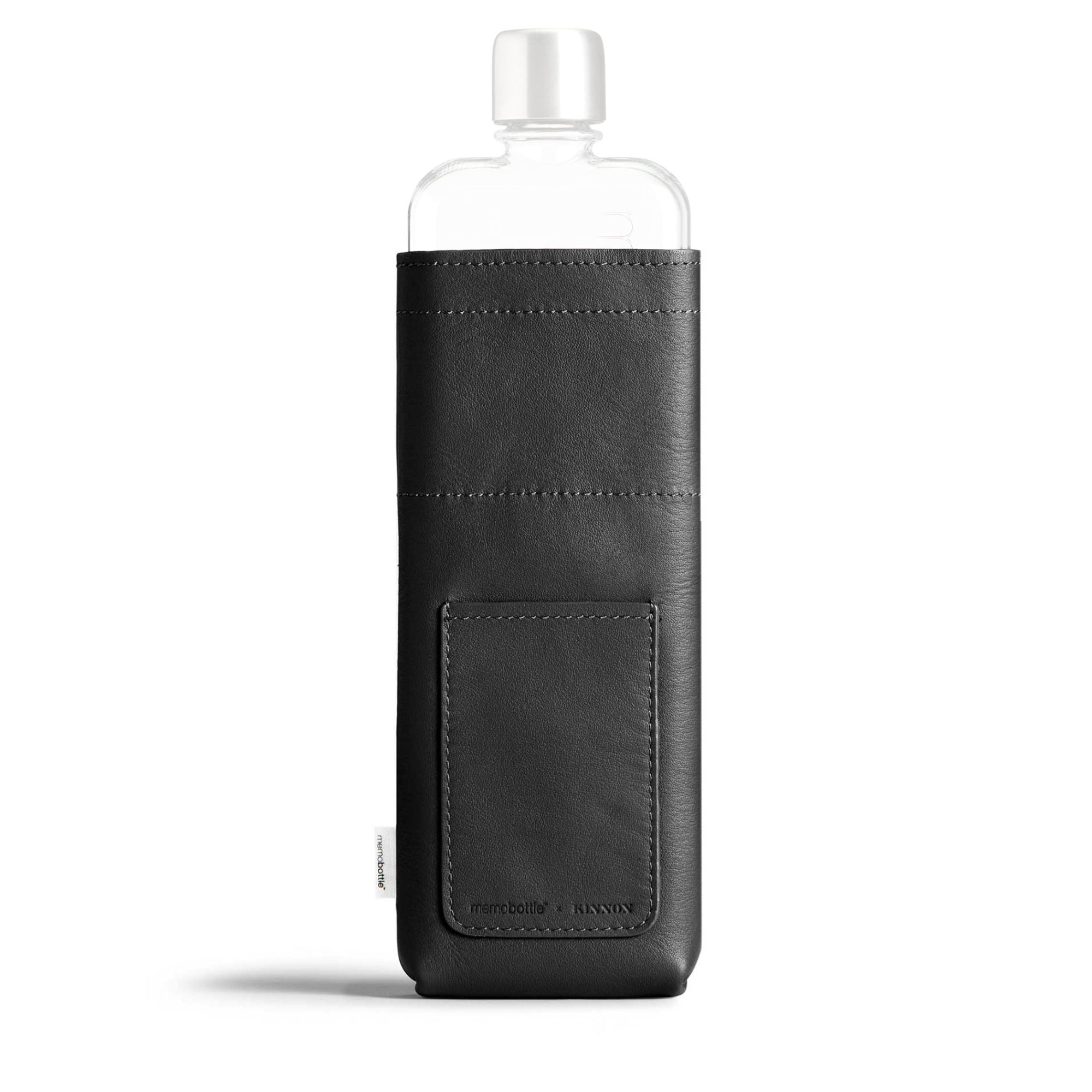 Memobottle Leather Sleeve for Slim , Black