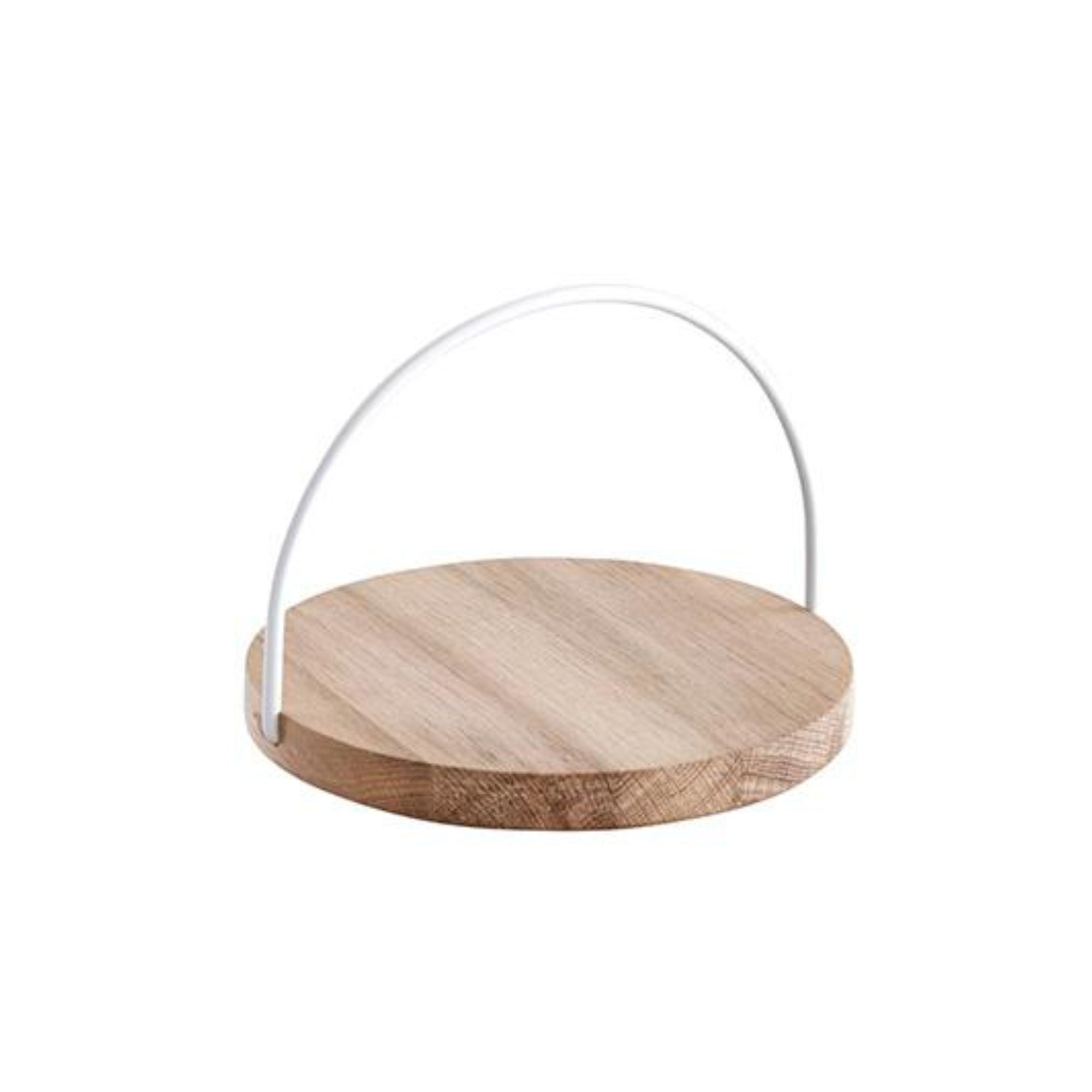Woud Loop Tray Small , White Handle