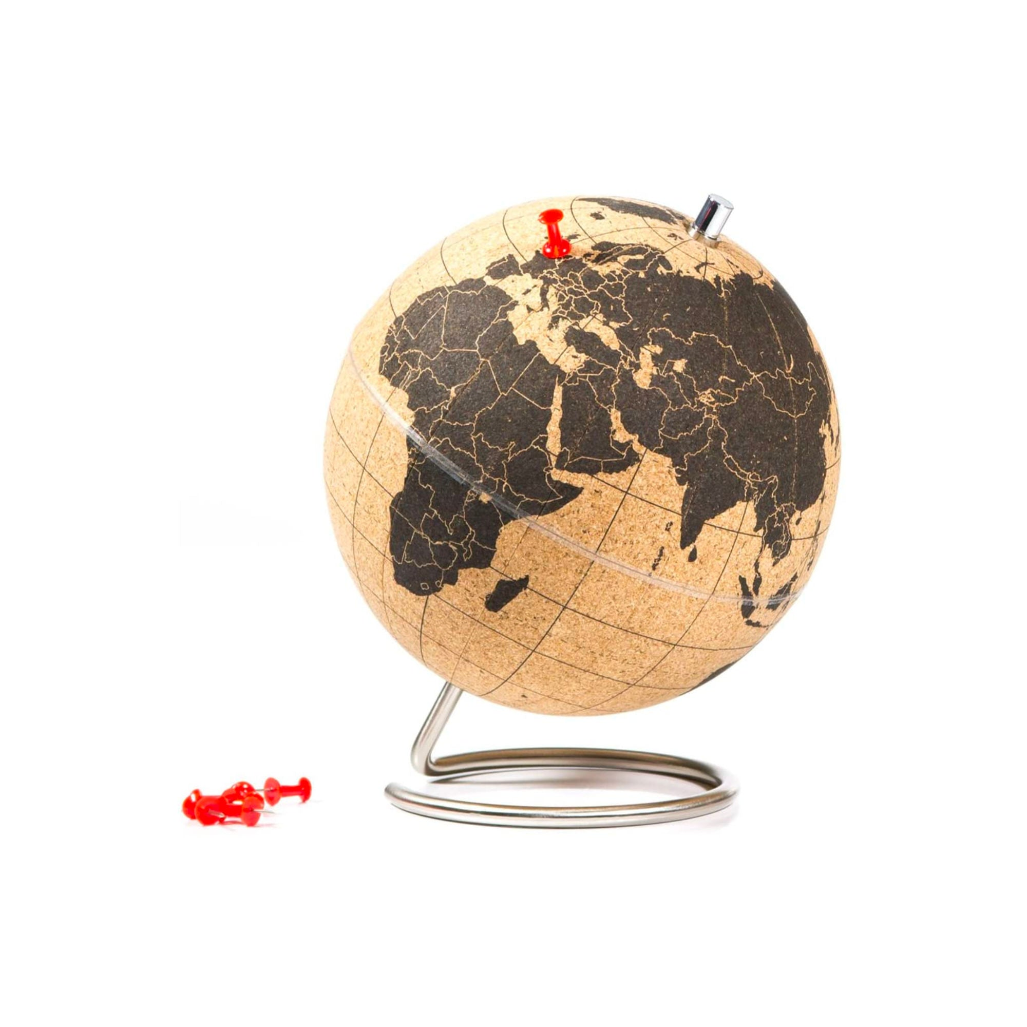 Suck UK Cork Globe Small , Black