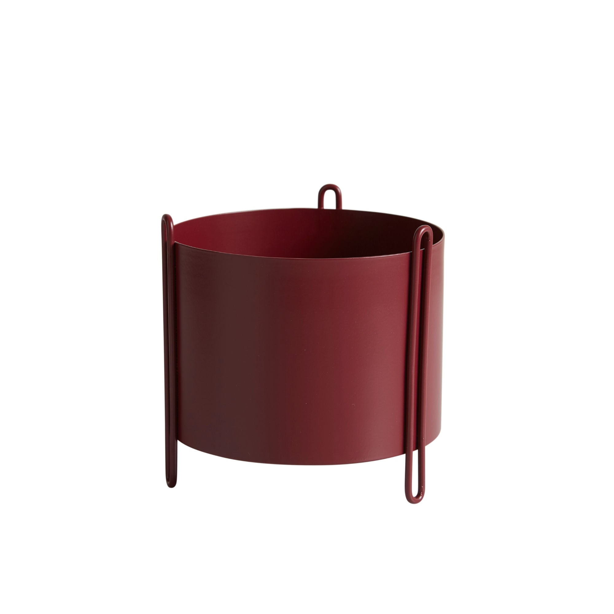Woud Pidestall Planter Small , Red