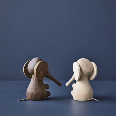 Lucie Kaas Baby Elephant , Rubber Wood