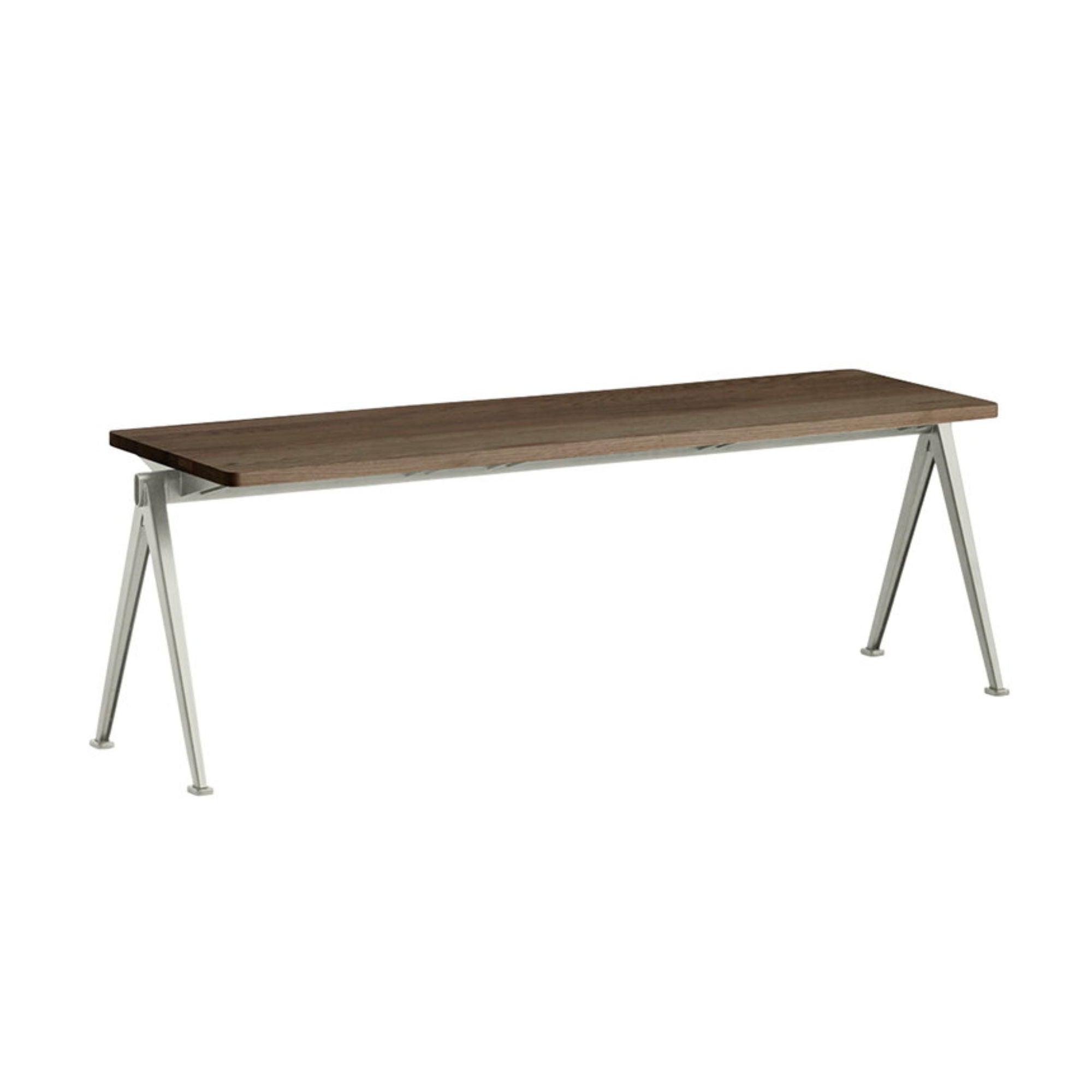 Hay Pyramid Bench 11 L140 , Smoked Solid Oak - Beige Frame