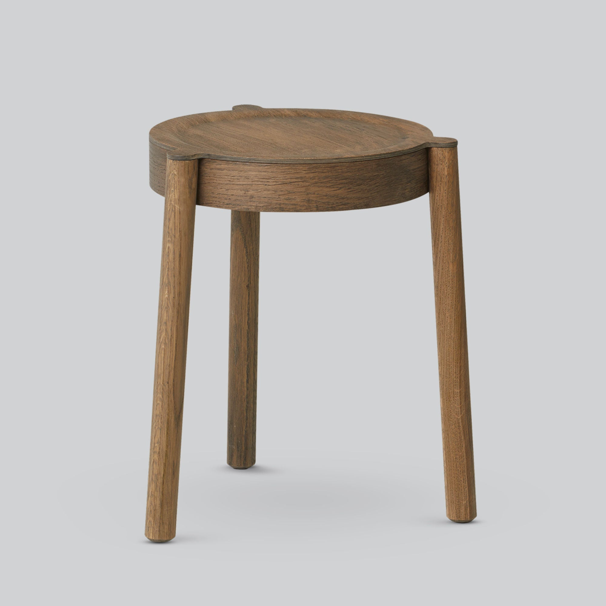 Northern Stacking Pal Stool , Smoked Oak