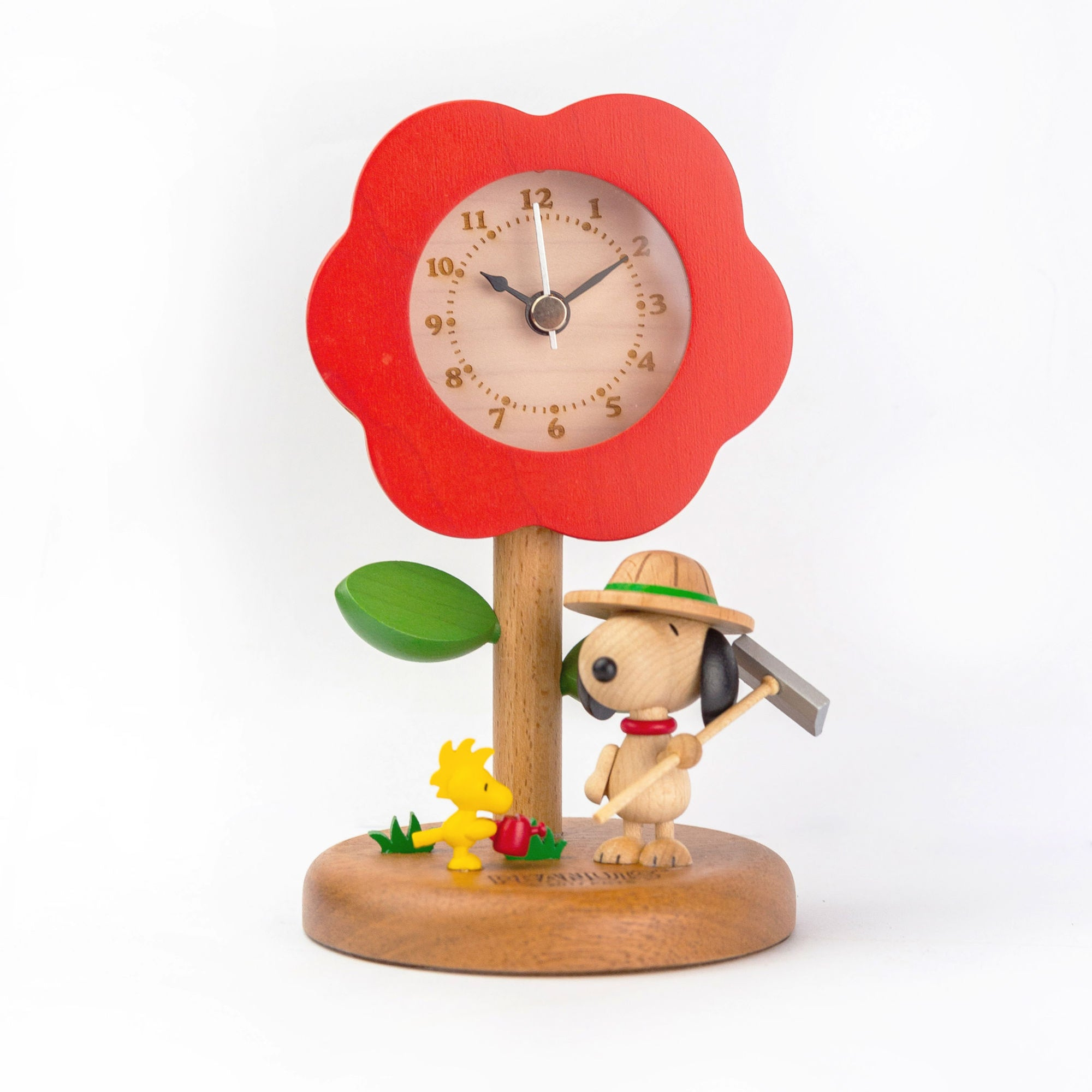 Wooderful Life wooden desk clock, Snoopy Farmer