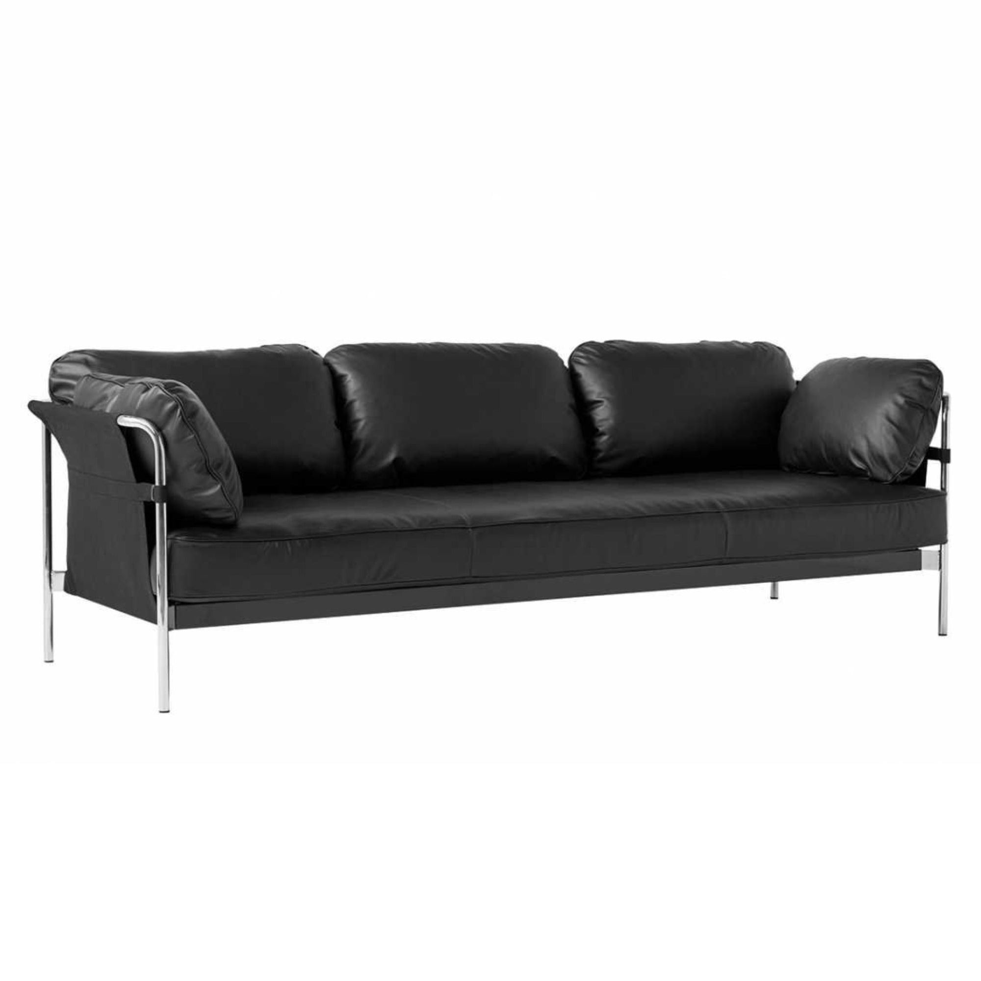HAY Can 3-Seater Sofa 2.0, chrome - black - silk0842