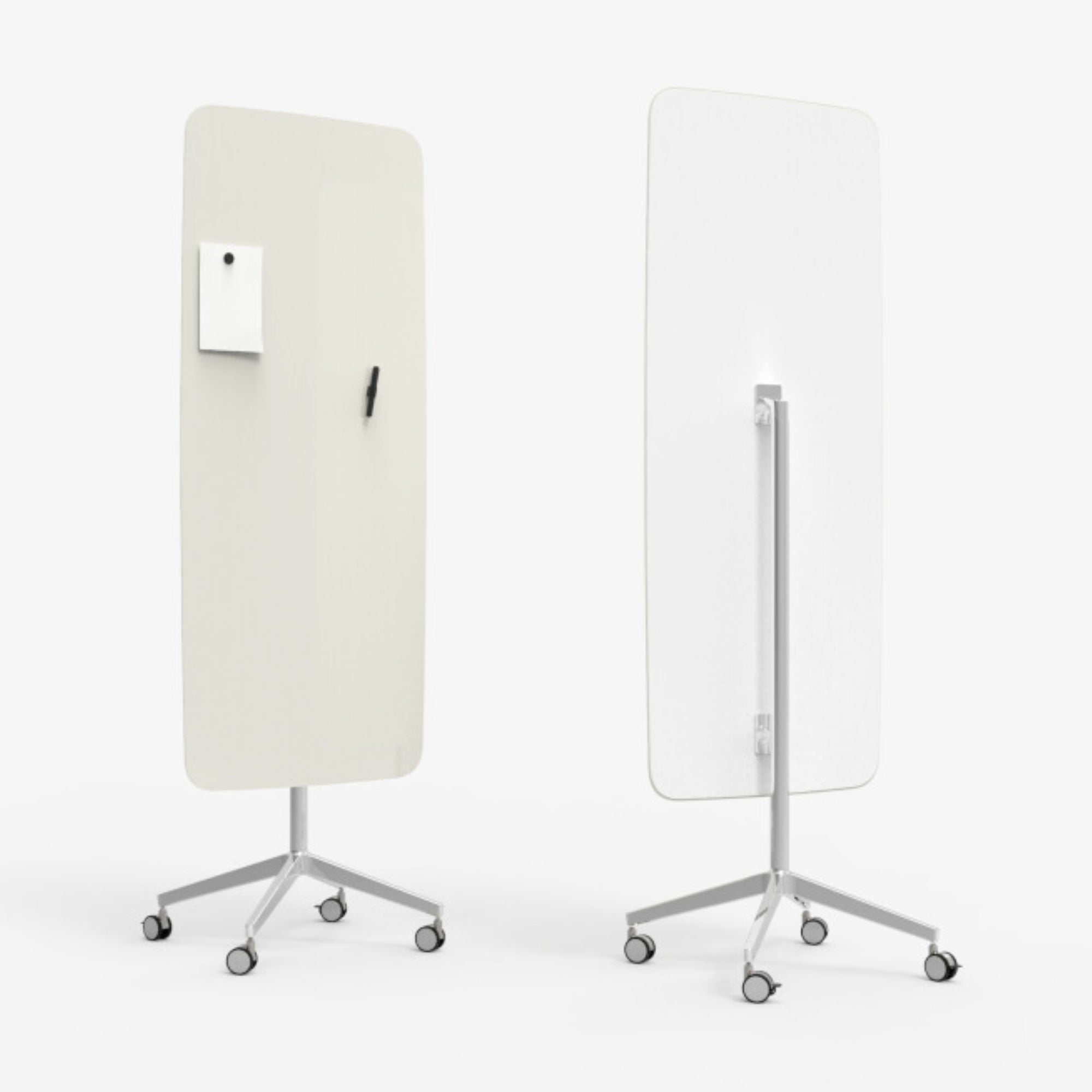 Lintex Flow Mobile Glassboard on a Polished Stand , Soft 150