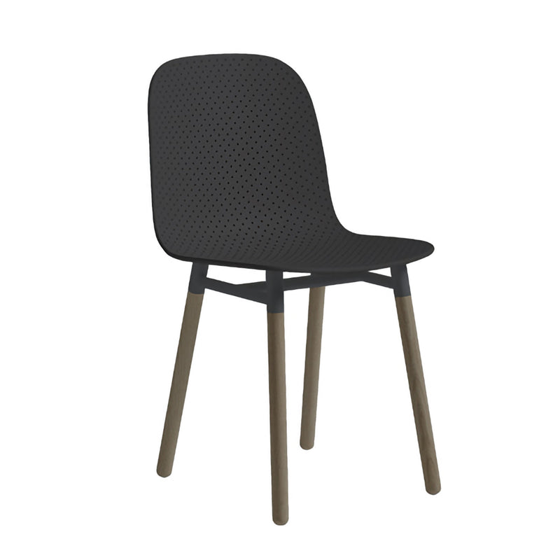 HAY 13Eighty Chair Wooden Leg , Soft Black