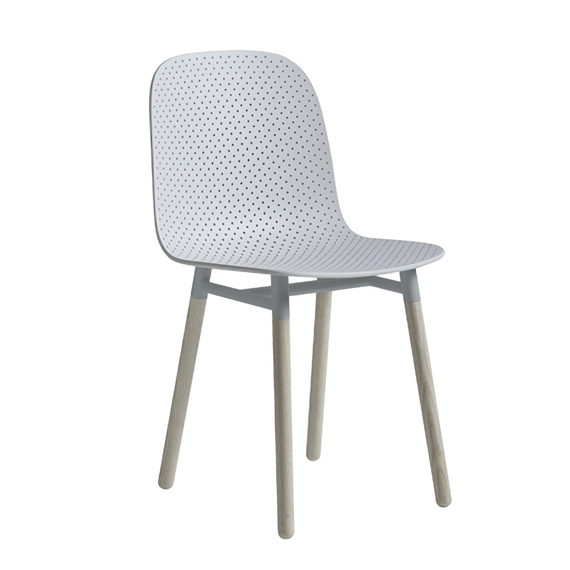 HAY 13Eighty Chair Wooden Leg , Soft Blue
