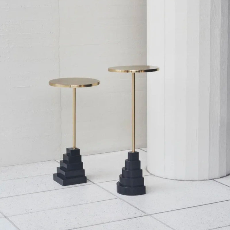 AYTM Solum Side Table H78 , Gold/Black