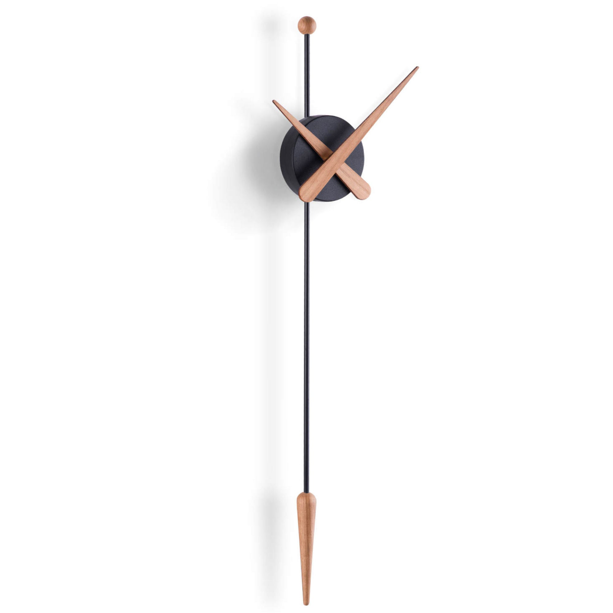 Nomon Punta wall clock, oak - black