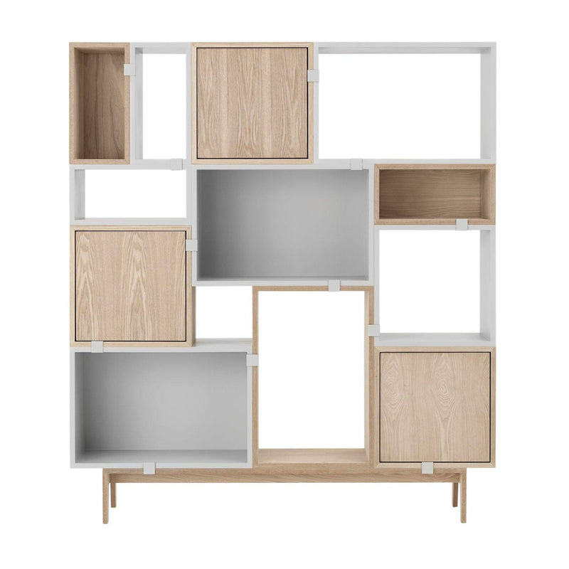Muuto Stacked Shelf System Configuration 6 , Oak-Grey