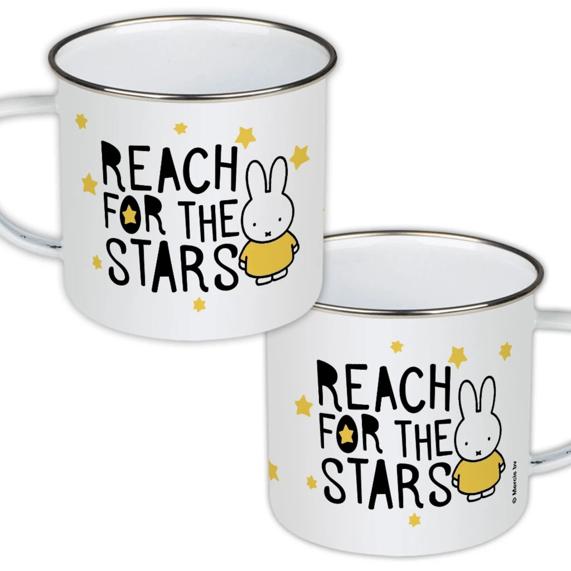 Miffy Enamel Mug, reach for the stars