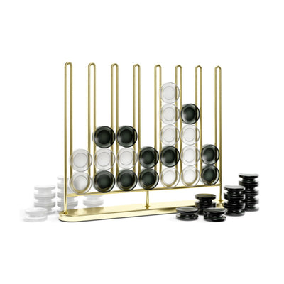 Umbra Stax 4-In-A-Row Game Brass Set