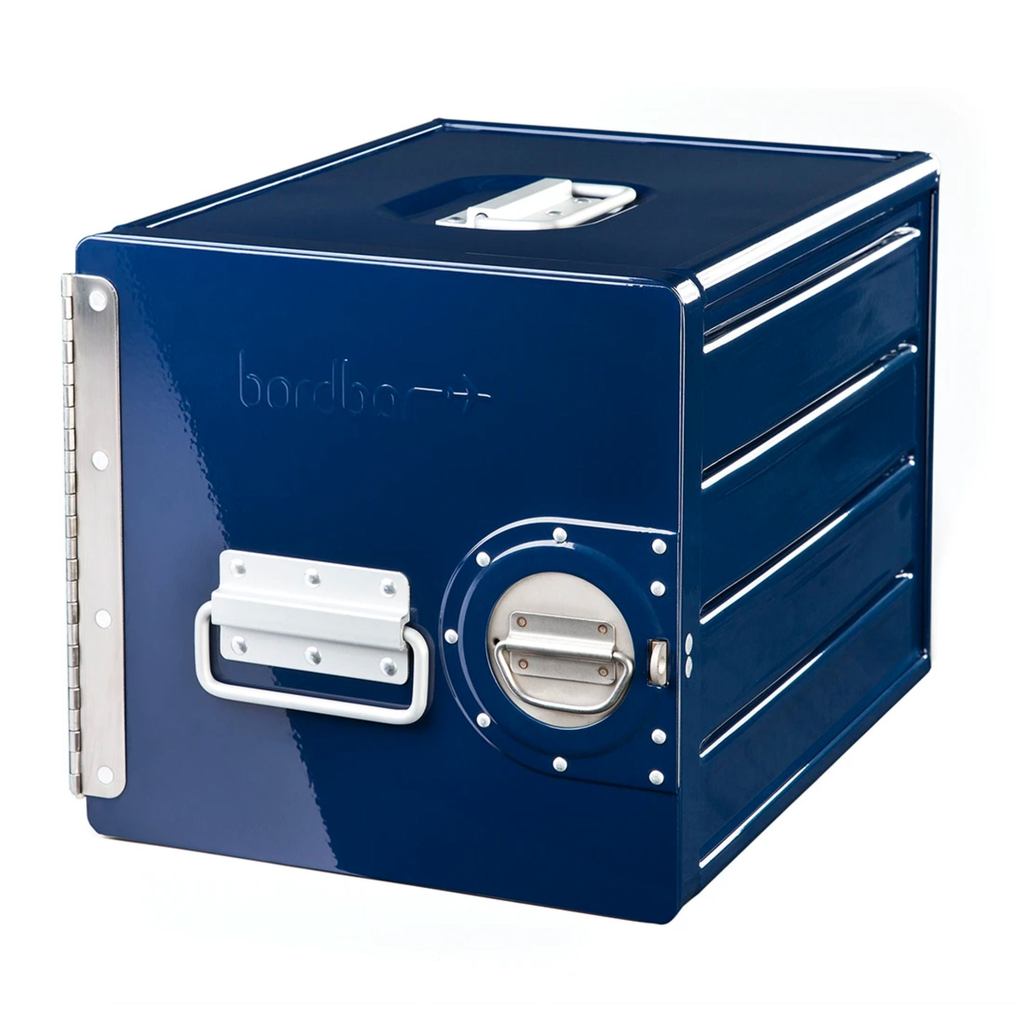 Bordbar Cube Wall Storage Box , Steel Blue