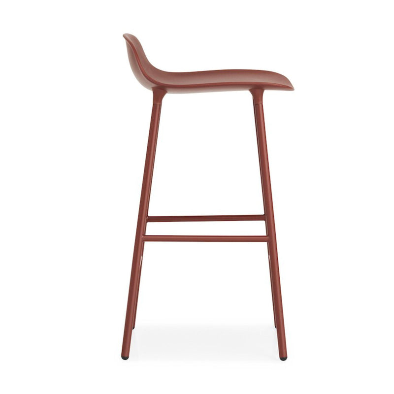 Normann Copenhagen Form Barstool 75cm Steel , Red