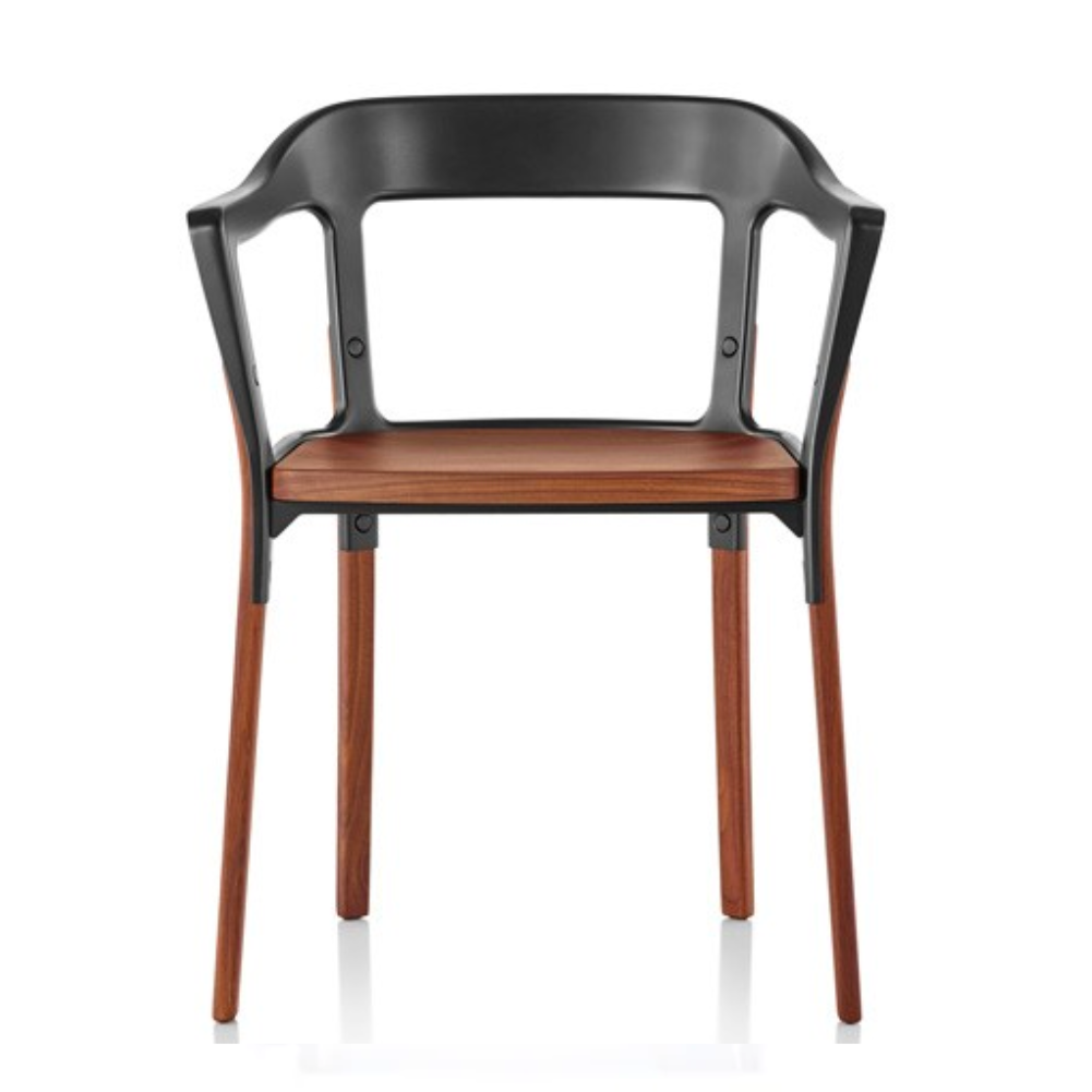 Magis Steelwood Chair by Ronan & Erwan Bouroullec - Black_American Walnut