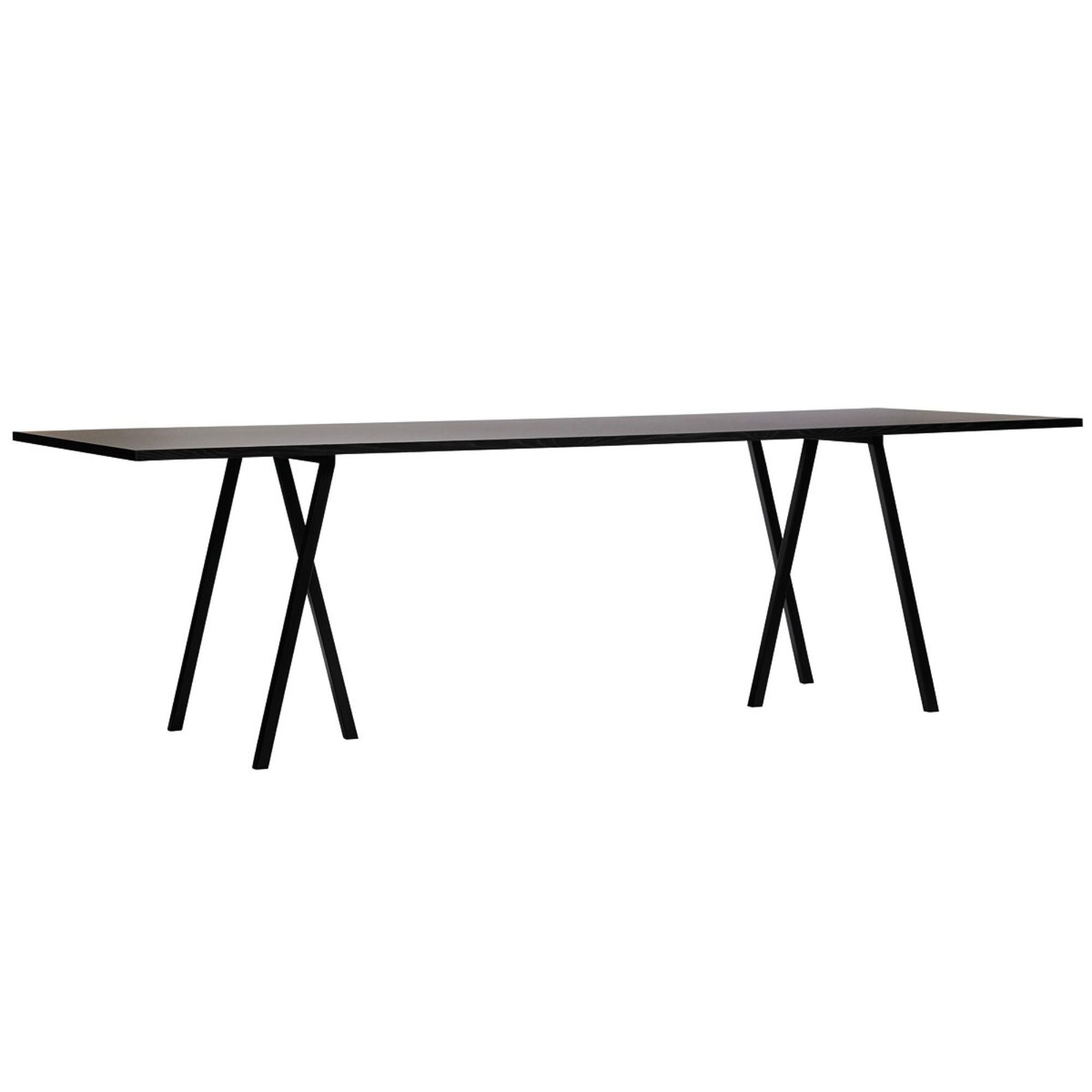 Loop Stand Rectangular Table L200 x X92.5 , Black