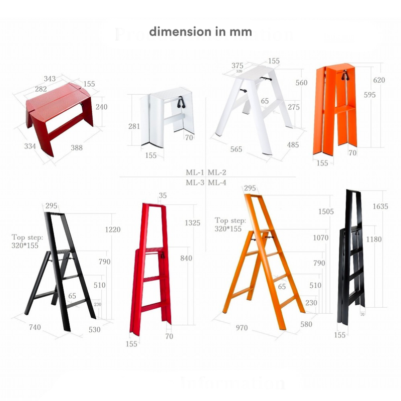 Metaphys Lucano Step Ladder 4 Step 150cm