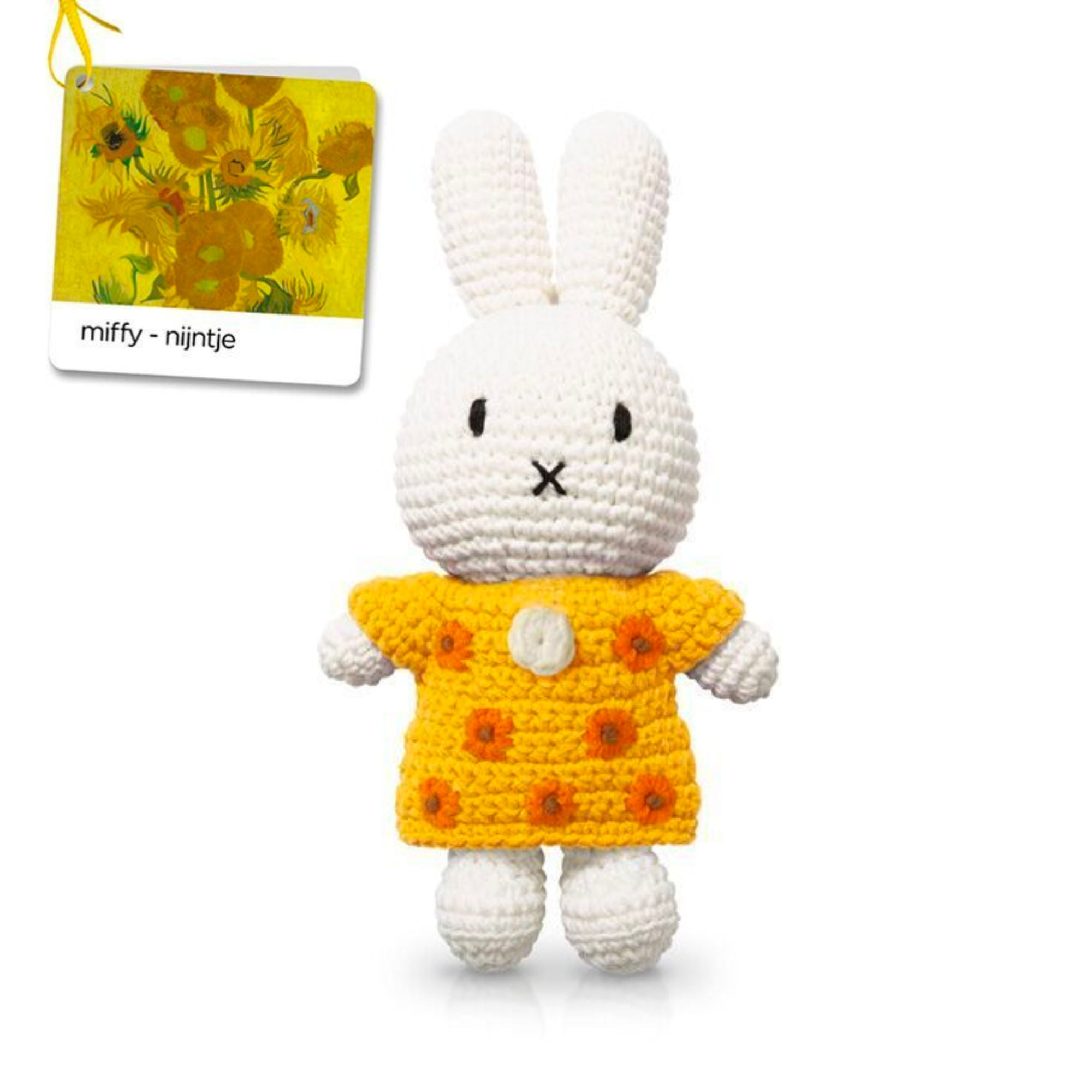 Just Dutch handmade doll, Miffy and her sunflower dress