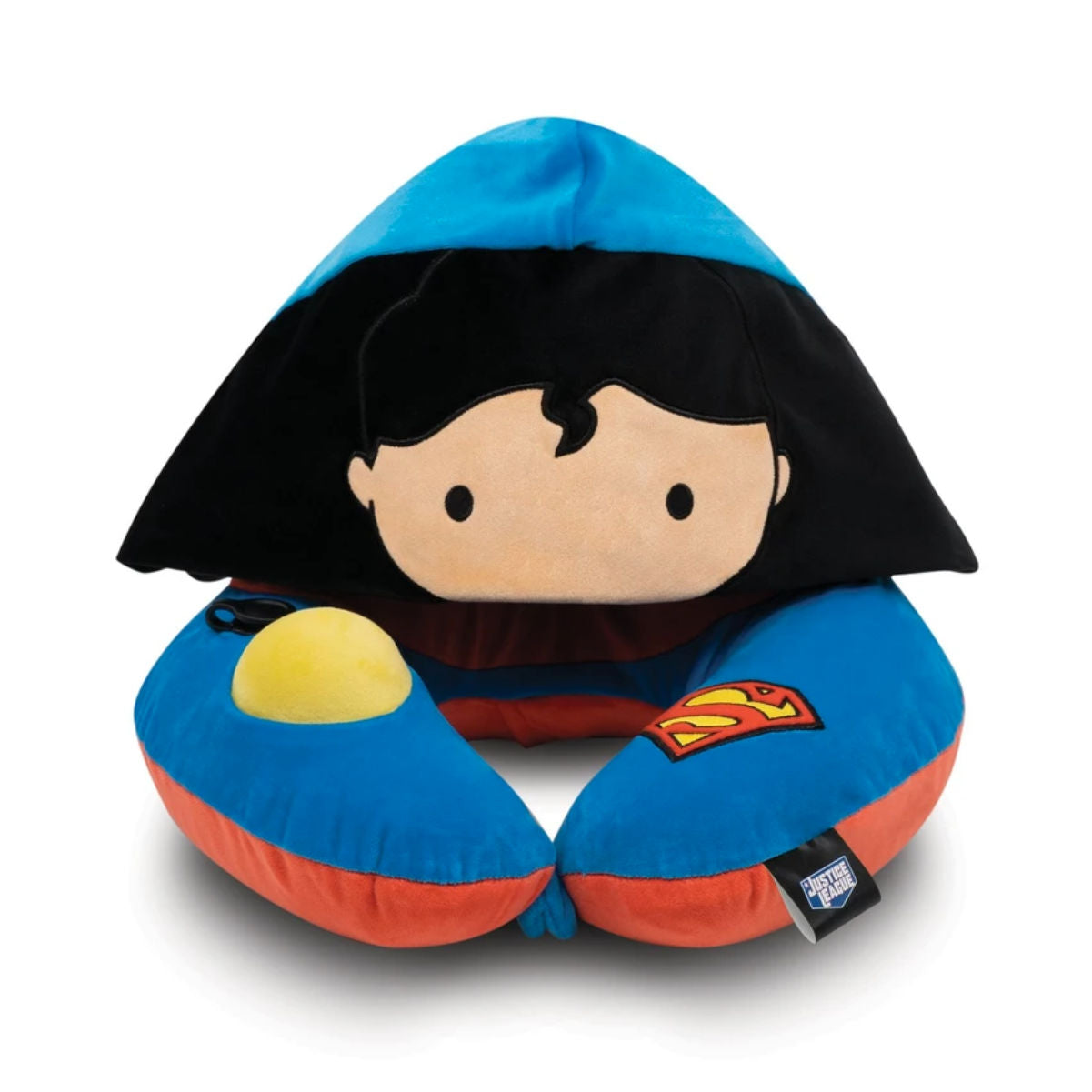 Justice League neck pillow with hood, Superman