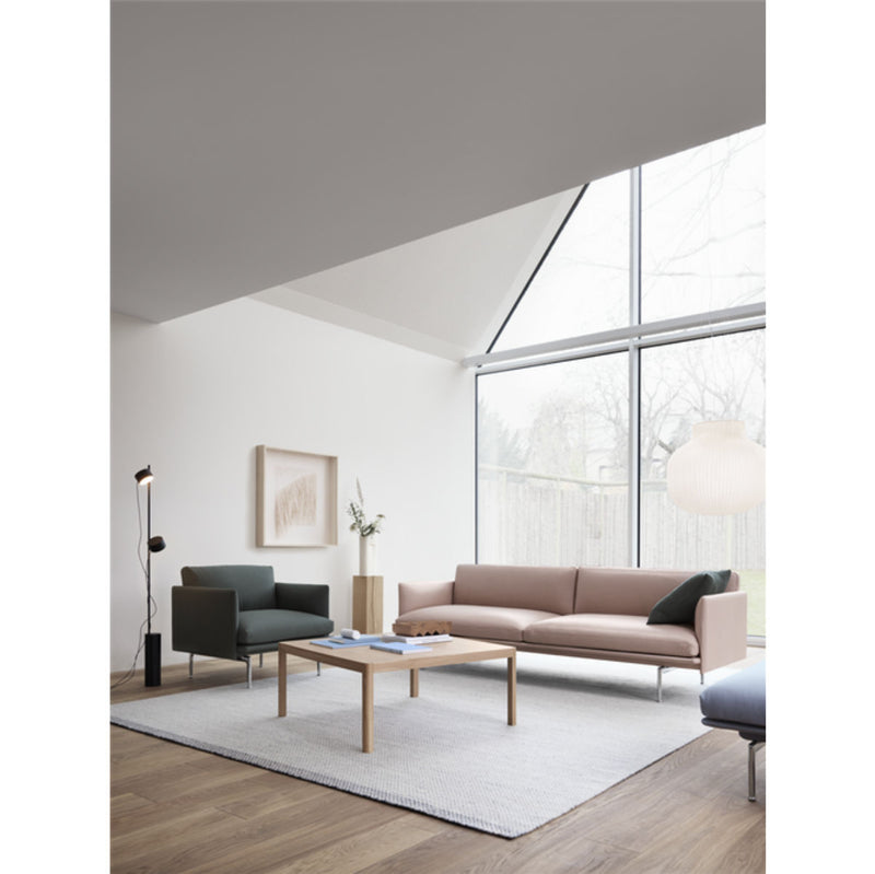 Muuto Workshop coffee table, square, oak