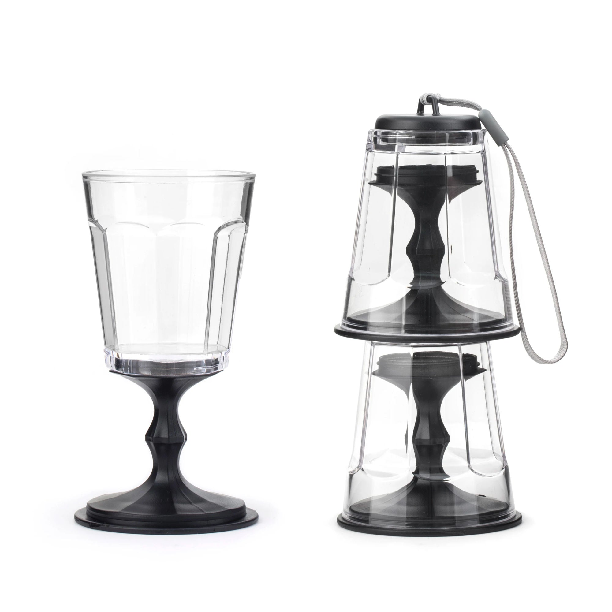 Kikkerland Stacking Wine Glass Set of 2