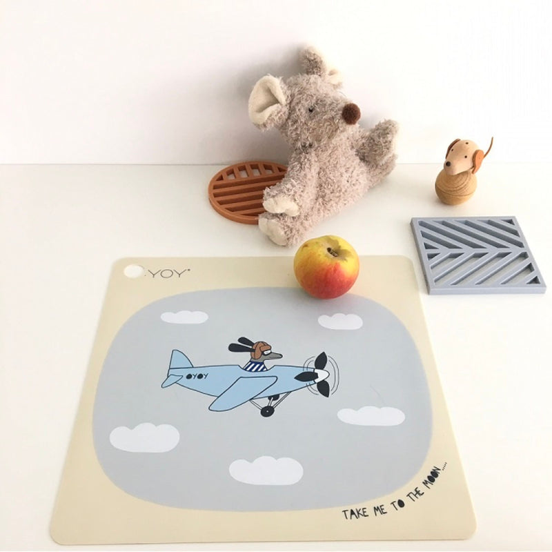 OYOY Kids Meal placemat , take me to the moon