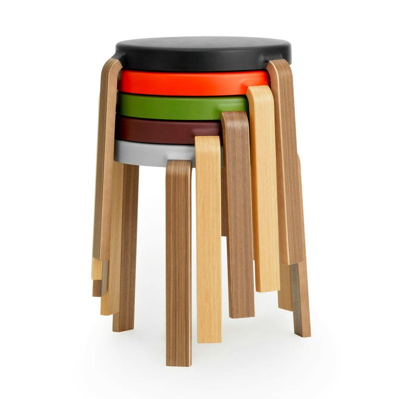 Normann Copenhagen Tap Stool , Black-Oak