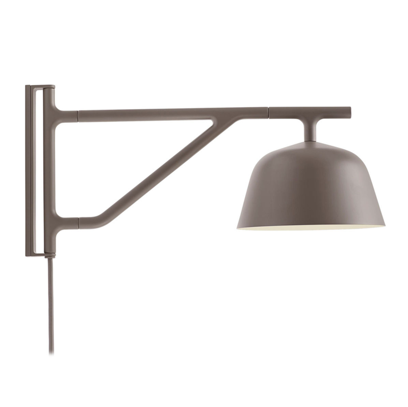 Muuto Ambit wall lamp, taupe