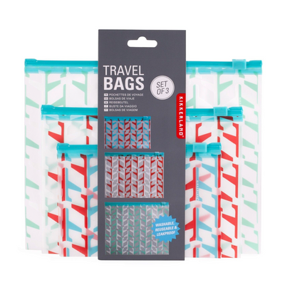 Kikkerland Travel Bags Set Of 3