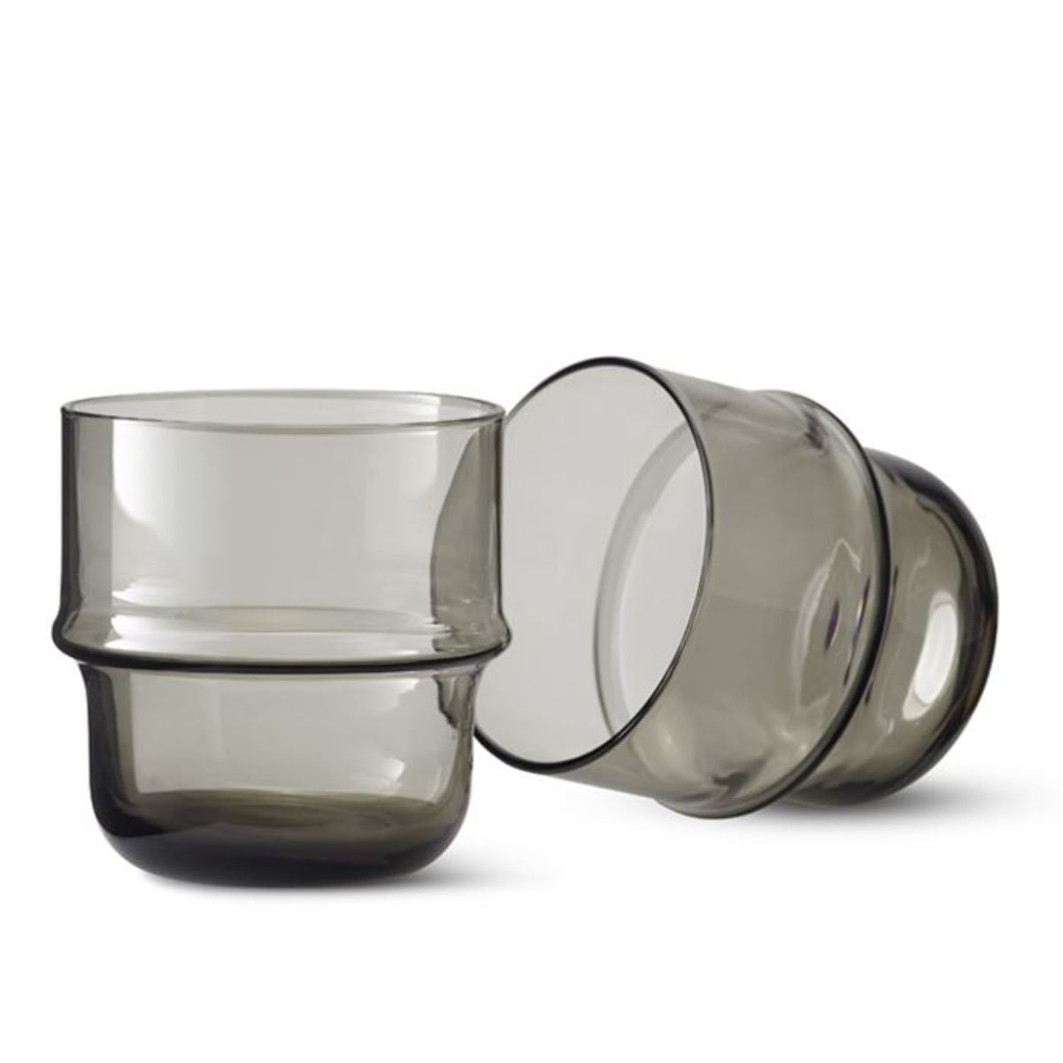 Design House Stockholm Unda glass, set of 2, grey