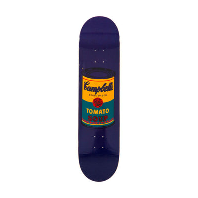 The Skateroom skateboard, Andy Warhol Colored Campbell's Soup teal