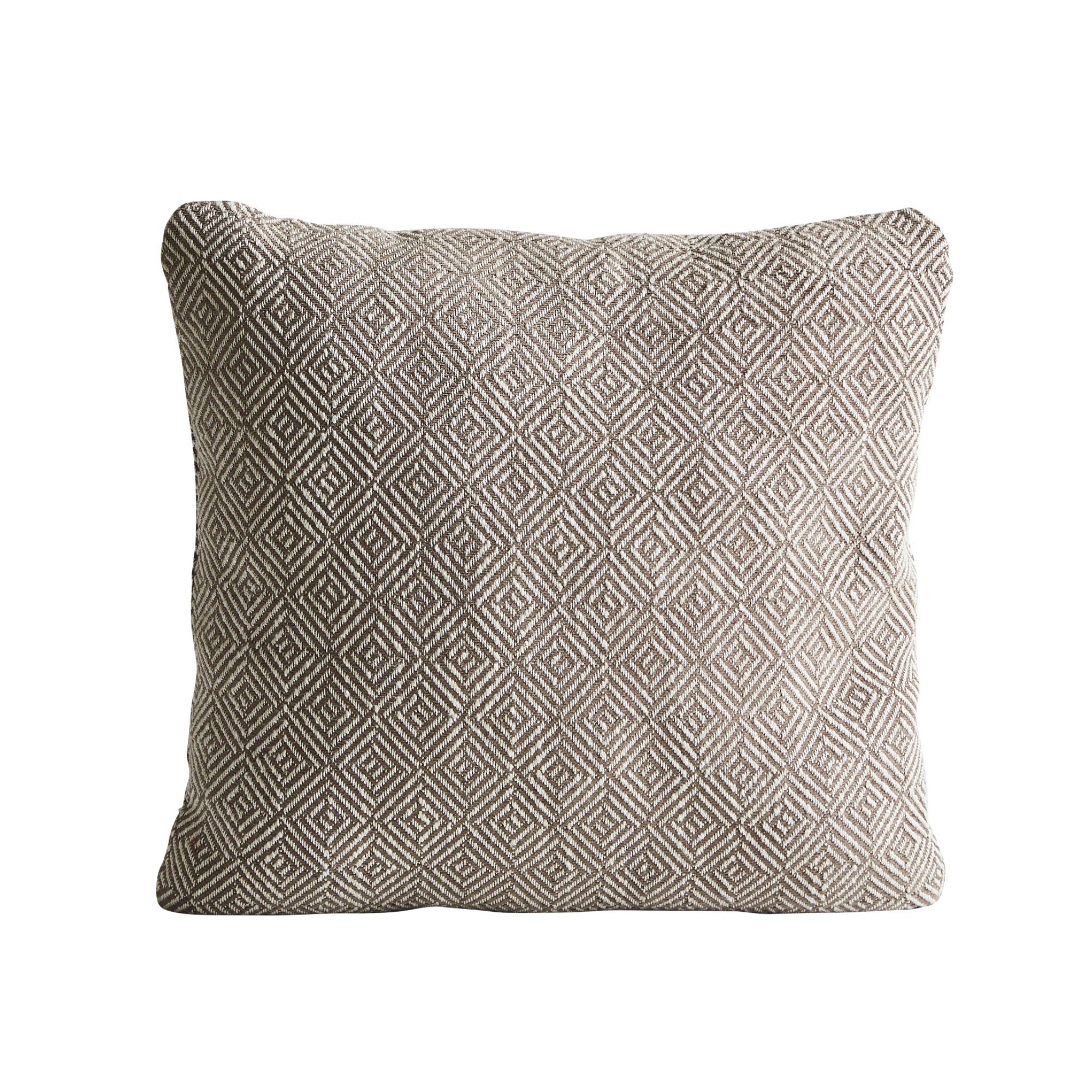 Woud Diamond Cushion , Terra Beige