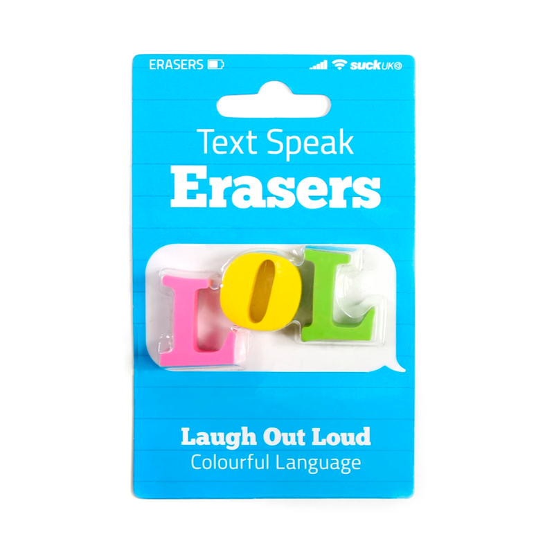 Suck UK Erasers LOL