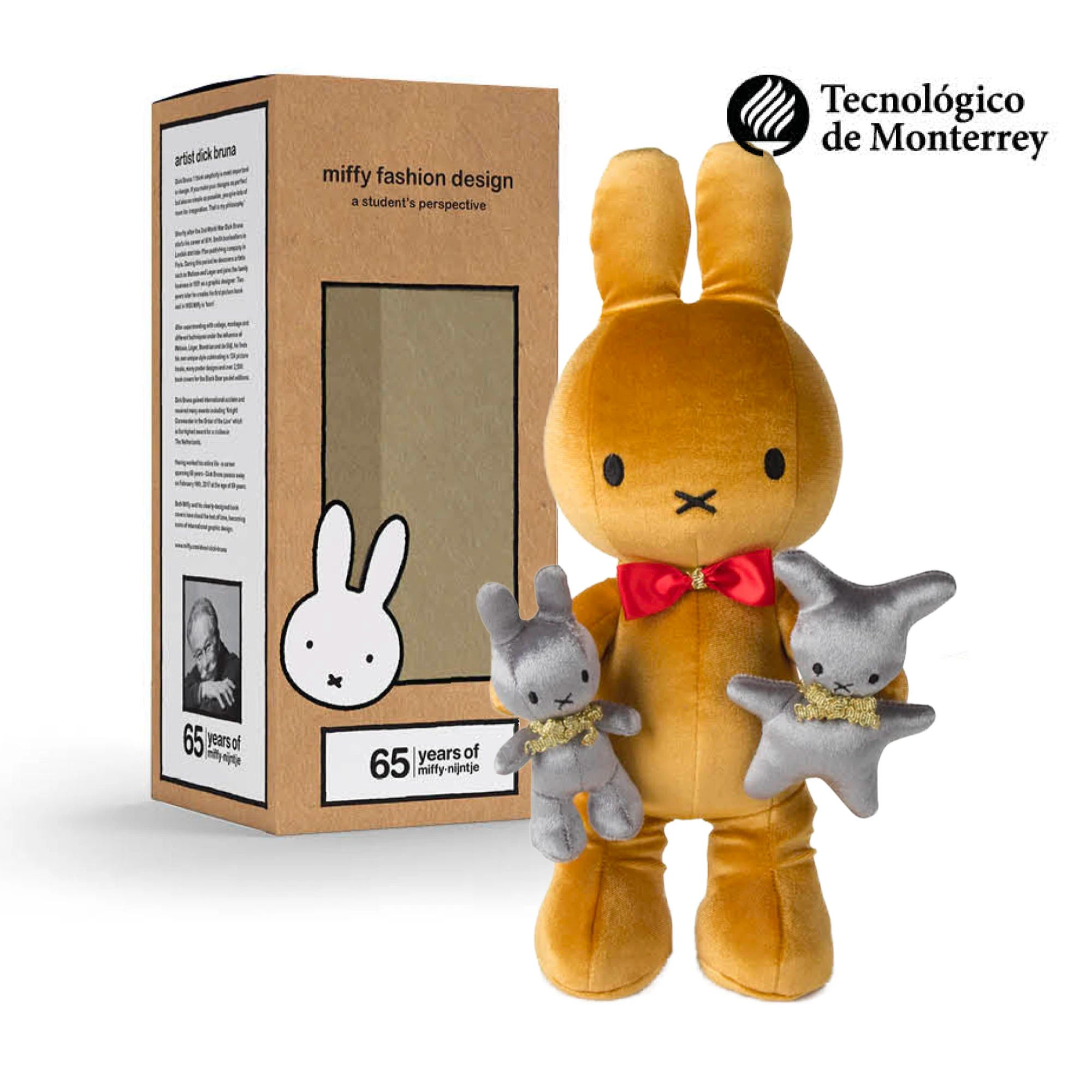 65 Years Limited Edition | Miffy Fashion Design plush doll 34cm , Evolution Gold