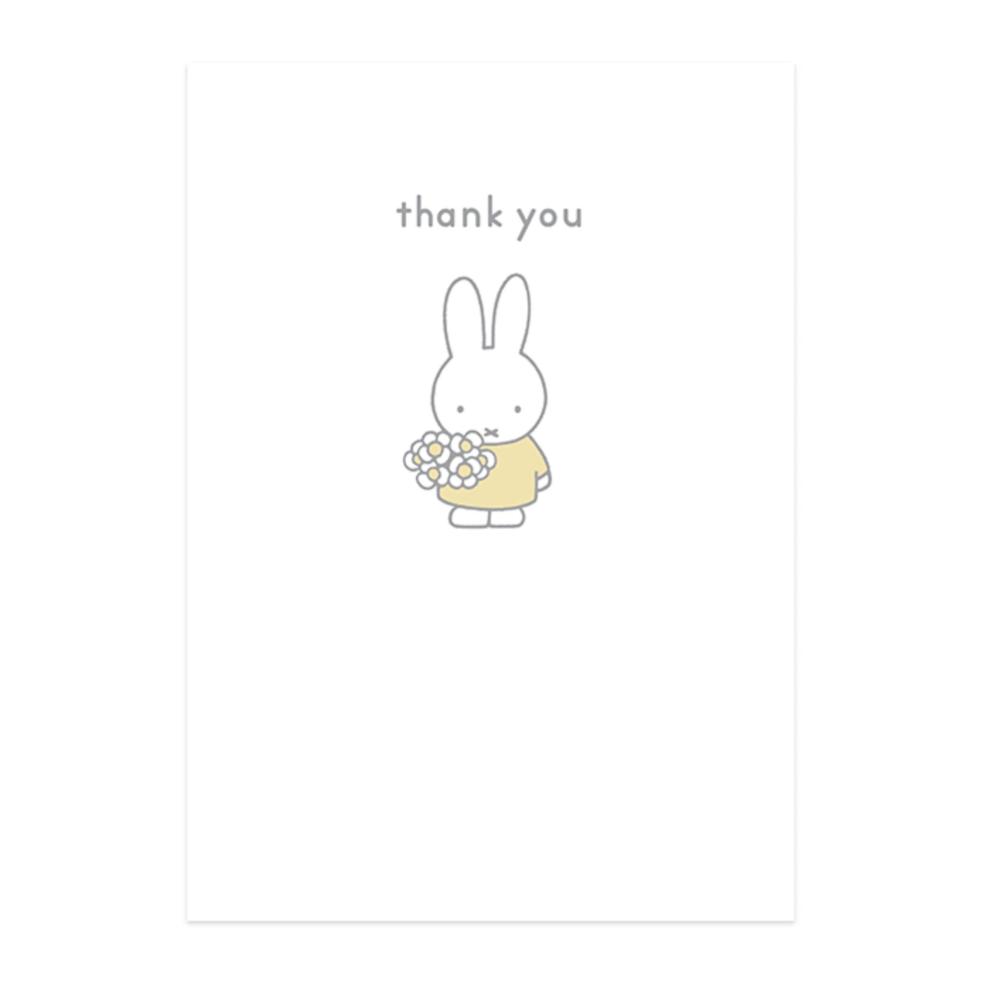 Hype Miffy message card, thank you