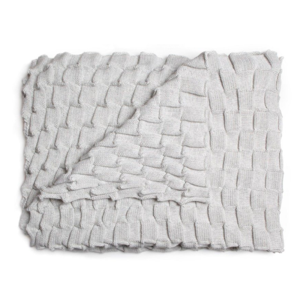 Design House Stockholm Curly Throw, white grey